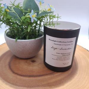 Handmade Sage + Lavender Candle Coconut Wax